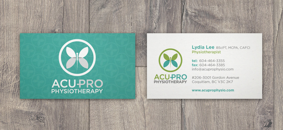 Acu-Pro Physiotherapy business cards