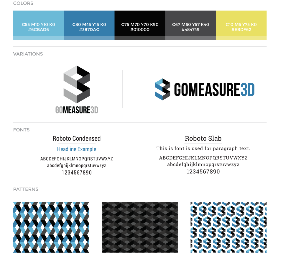 GoMeasure3D corporate brand guidelines