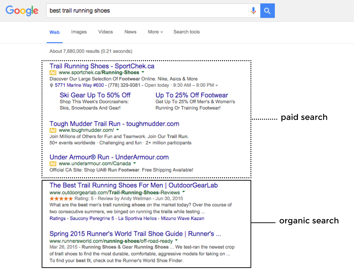 paid search versus organic search