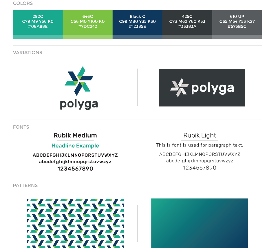 Polyga corporate brand guidelines