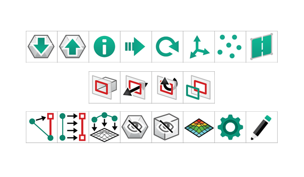 XTract3D User-Interface Icons